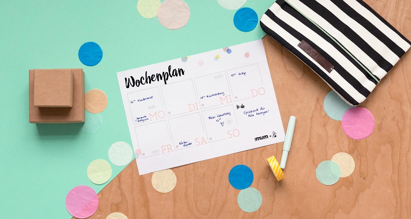 Kühlschrank Wochenplaner : Printable wochenplaner von luna mum printityourself