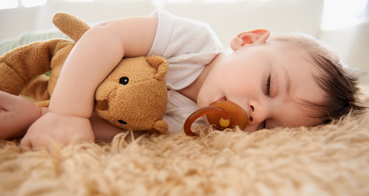 Cropped shot of an adorable baby boy taking a nap