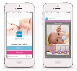 MAM Baby Phone App_Start Screen_Baby ist wach