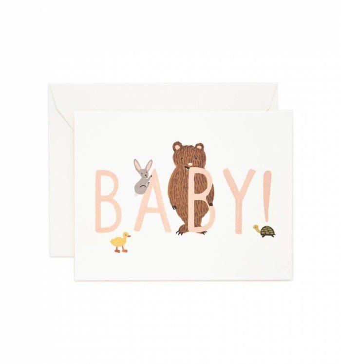 Postkarte Klappkarte Grußkarte Geburt Baby