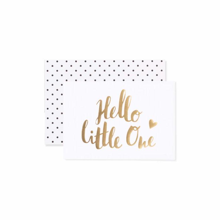 Postkarte Klappkarte Grußkarte Geburt hello little one