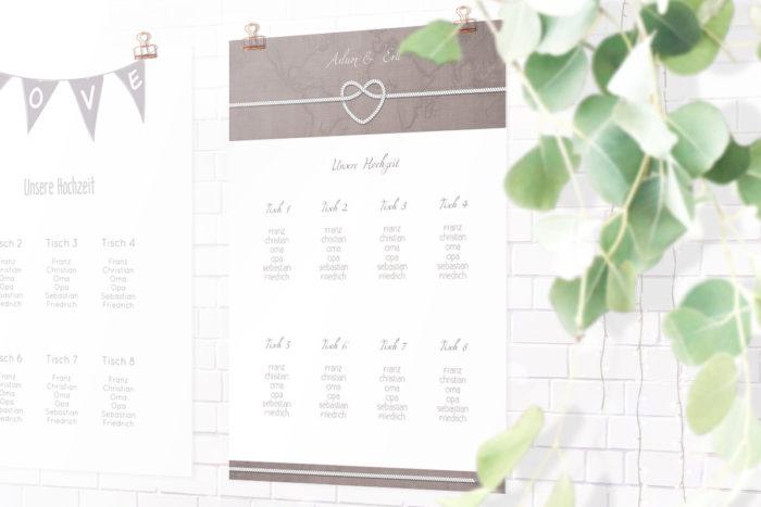 Sitzplan Hochzeitsvorbereitungen