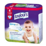 "Windelpackung der Marke ""Toujours"""