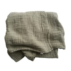 Petit Stellou Nooshi grün green Schal Bio Baumwolle Geschenk Mutter