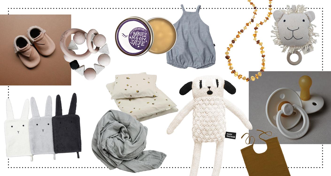 Geschenkideen zur Geburt Krabbelschuhe Moccs Beißring Baby Kuscheltier Nuckel Kätzchen Bernsteinkette Spieluhr Babyzimmer Waschlappen Babybettwäsche