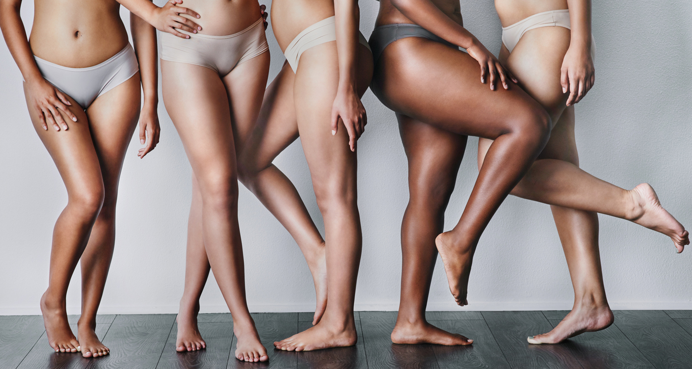 Frauen Mütter Geburt Beckenboden Hautfarbe hell und dunkel Körperfigur