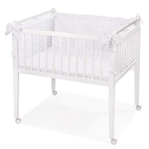 Zwillingsbett weisses Babybett auf Rollen Babynest Erstausstattung schlafen Kinderzimmer Babyzimmer
