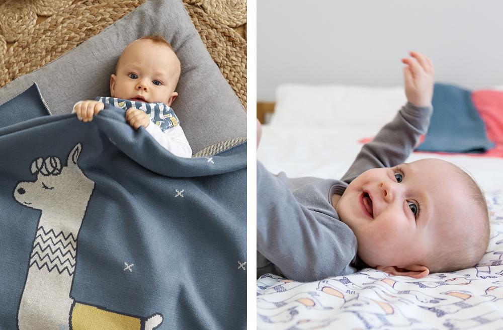 Babydecke mit Lama von Lässig