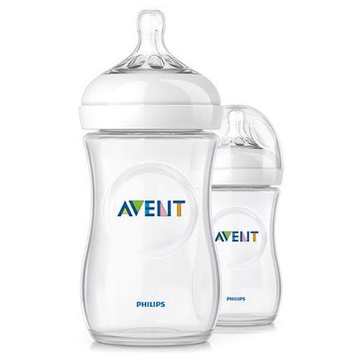 Phillips Avent Trinkflasche Babyflasche Milchflasche Naturnah transparente Babyflasche Doppelpack 2er Pack