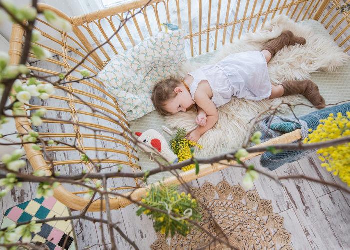 Rattanbett für Babies
