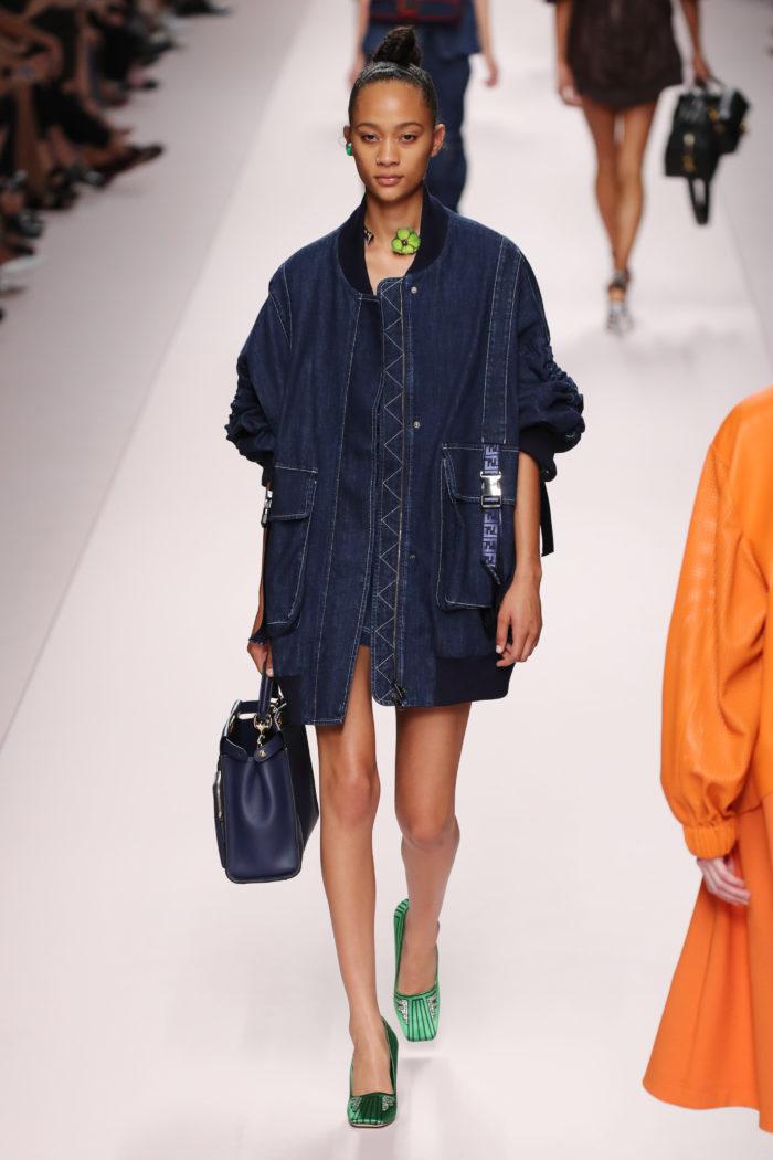 Denim Jacke Fendi - Runway - Milan Fashion Week Spring/Summer 2019